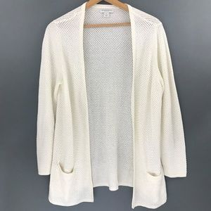 Christopher and Banks, Womens Cream Open Cardigan